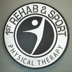 1st Rehab & Sport Physical Therapy Logo BW